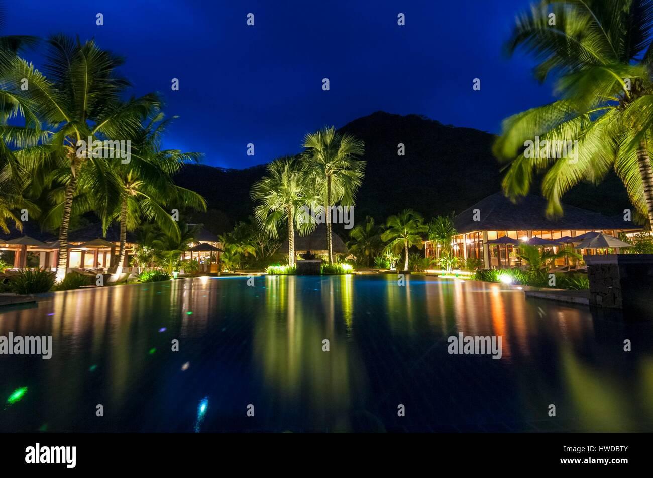 seychelles silhouette island hilton seychelles labriz resort spa stock photo royalty free. Black Bedroom Furniture Sets. Home Design Ideas