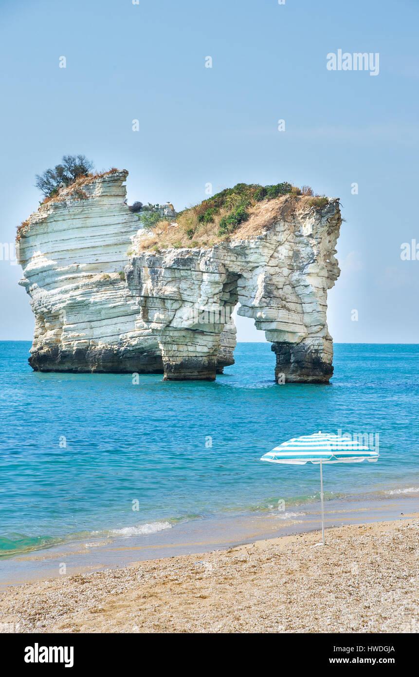 Gargano Faraglioni di Puglia Baia delle Zagare beach Stock Photo