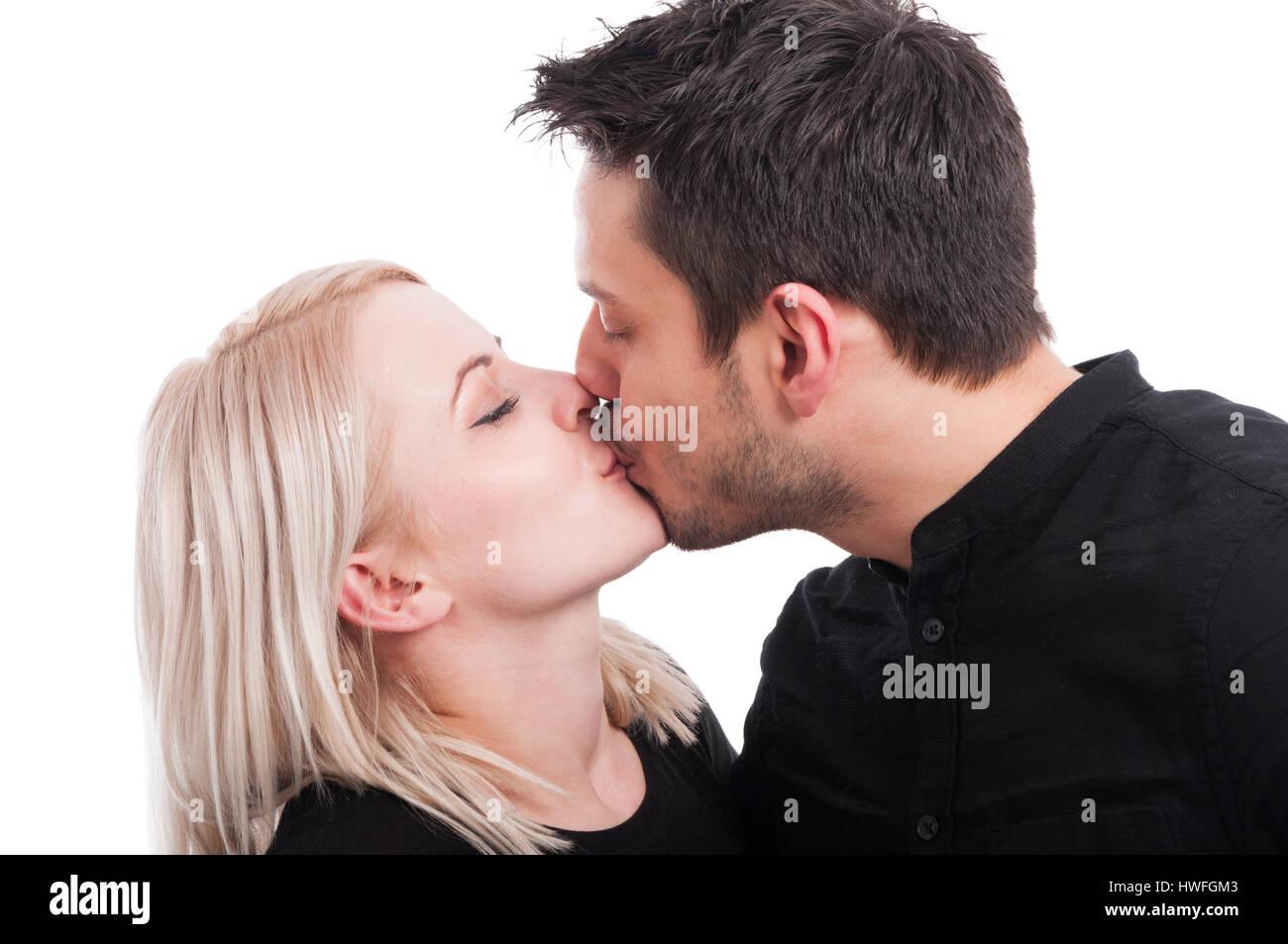 nude boy and girl kissing