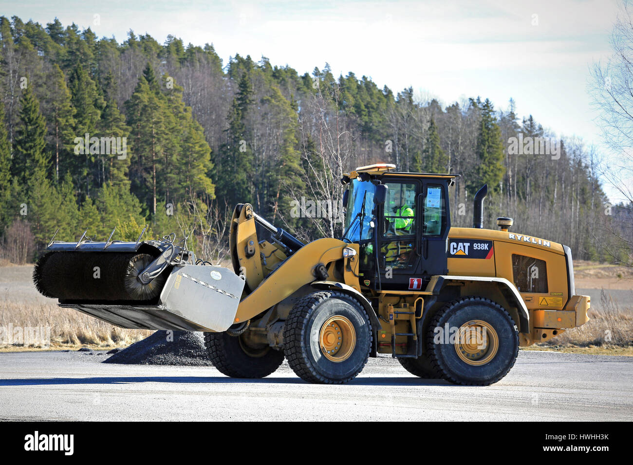 Paimio Finland March 18 2017 Cat 938k Wheel Loader