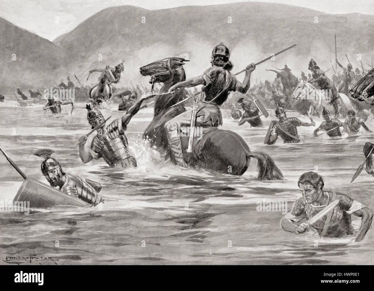 The Battle of Lake Trasimene, Italy, June 24, 217 BC ...