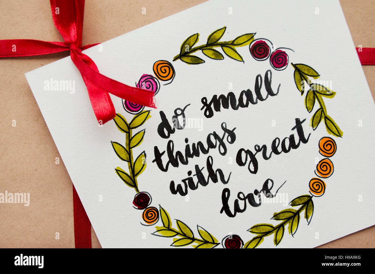 Inspirational Quote Do Small Things With Great Love