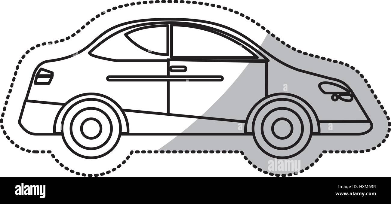 Car Sedan Vehicle Transport Outline Stock Vector Art