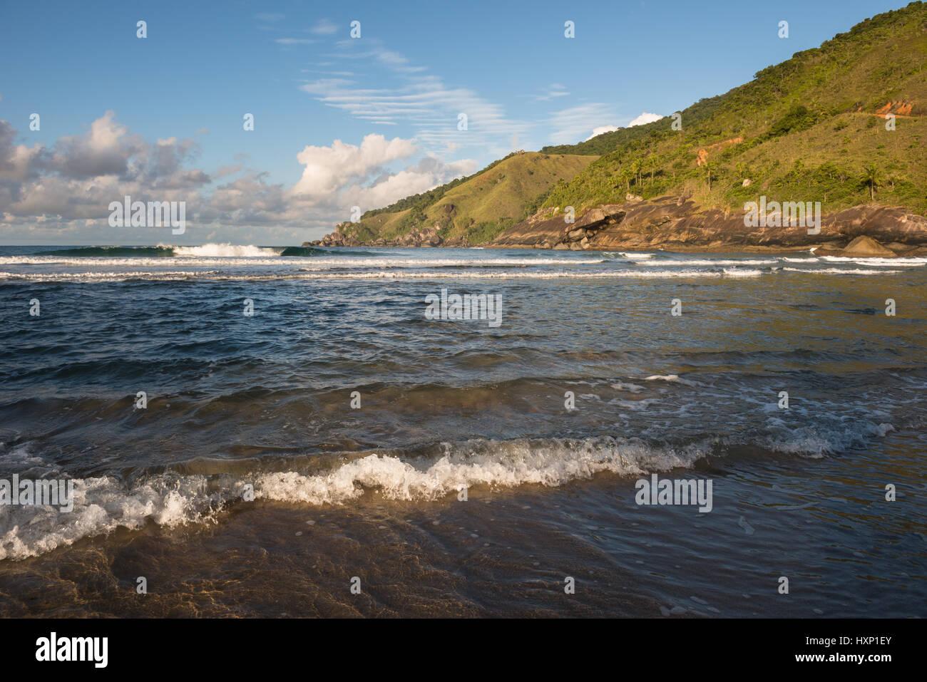 Bonete Beach in Ilhabela, Brazil Stock Photo