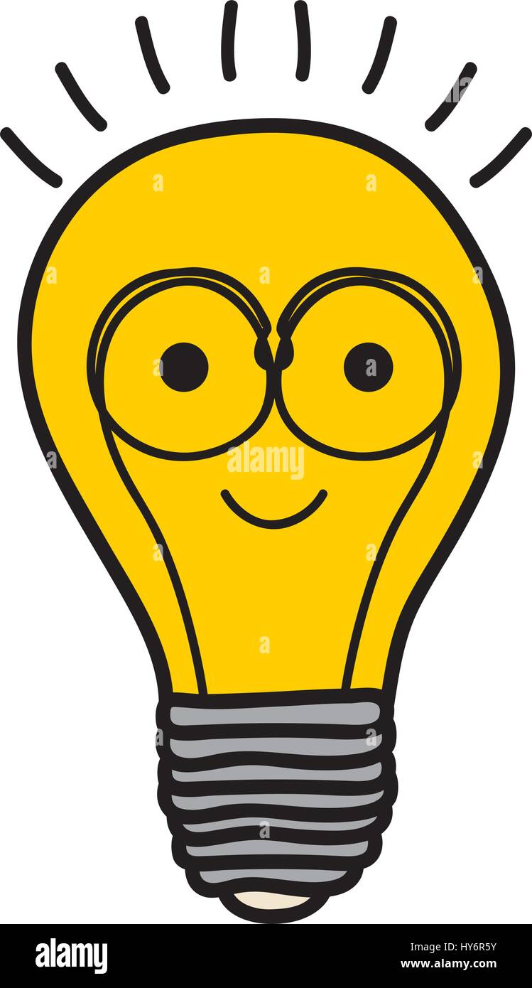 Stock Photo Color Background Of Light Bulb With Filament In Shape Cartoon With 137218199 on electric lamp