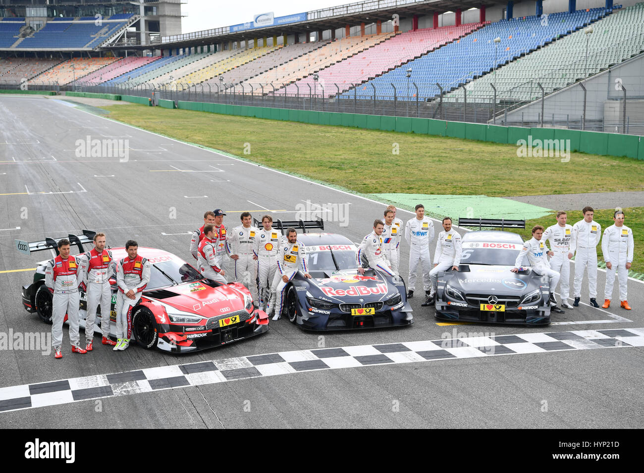 hockenheim germany 6th apr 2017 the drivers of the dtm. Black Bedroom Furniture Sets. Home Design Ideas