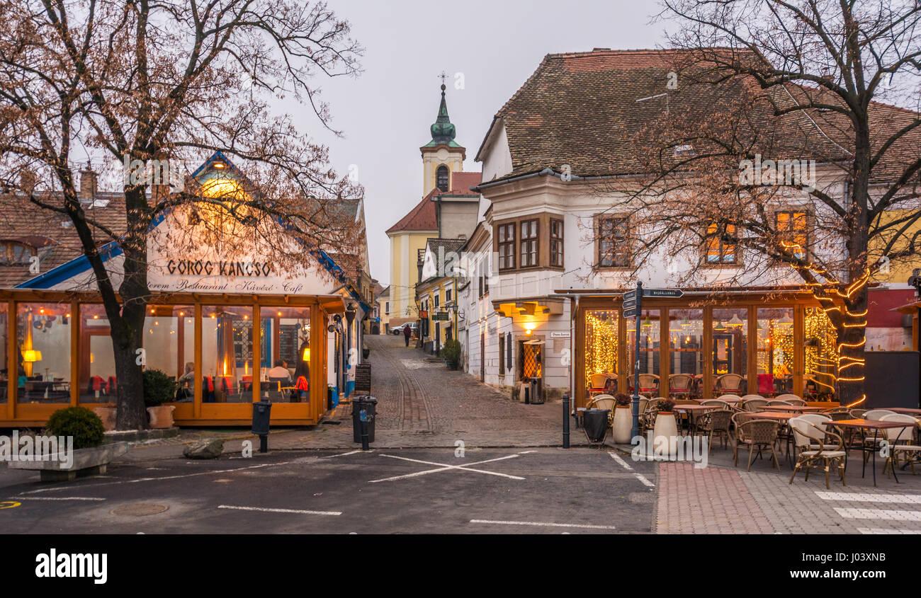 Szentendre In Christmas Small Town Along The Danube Near