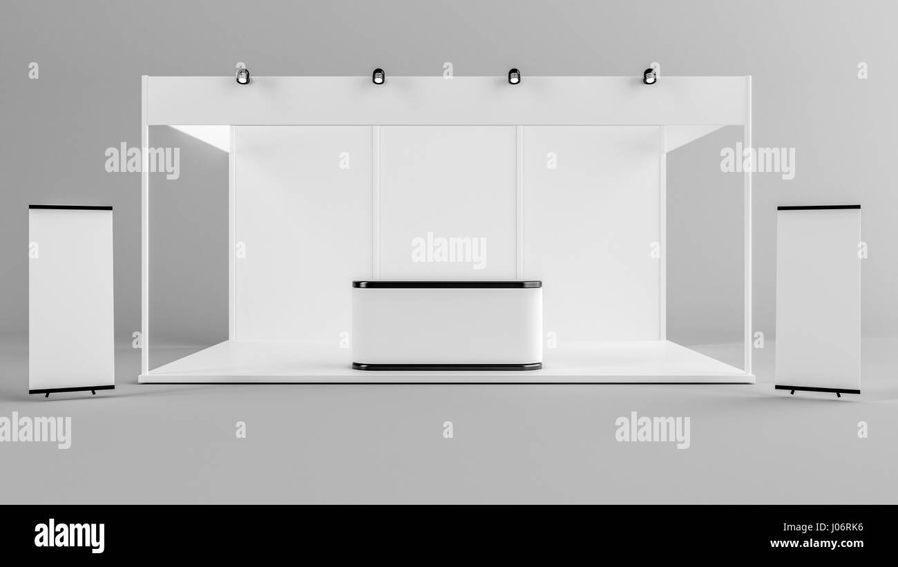 Exhibition Stand Template : White creative exhibition stand design booth template
