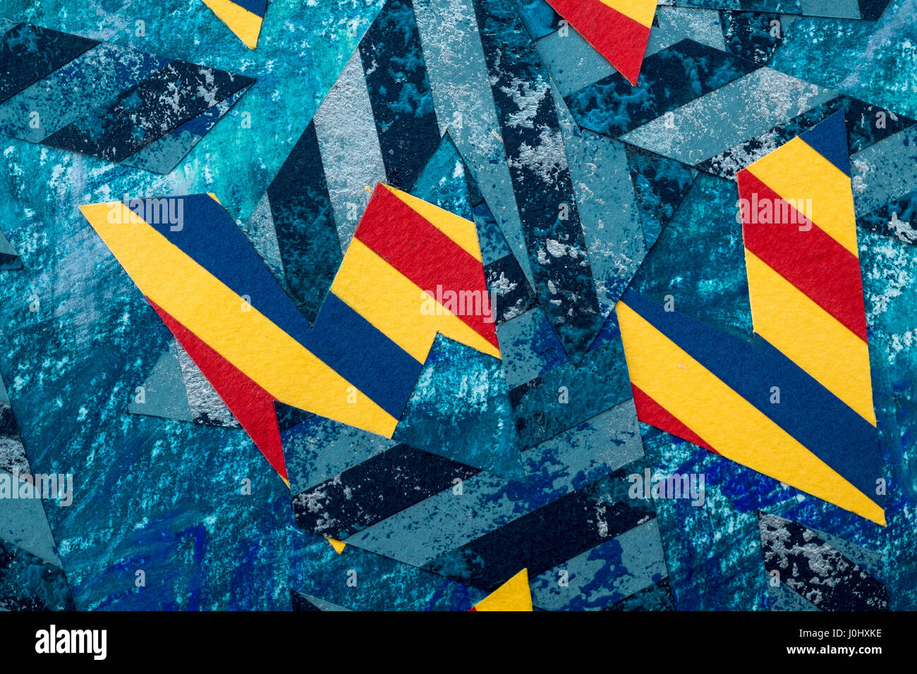 Modern abstract artwork by Ed Buziak. Stock Photo