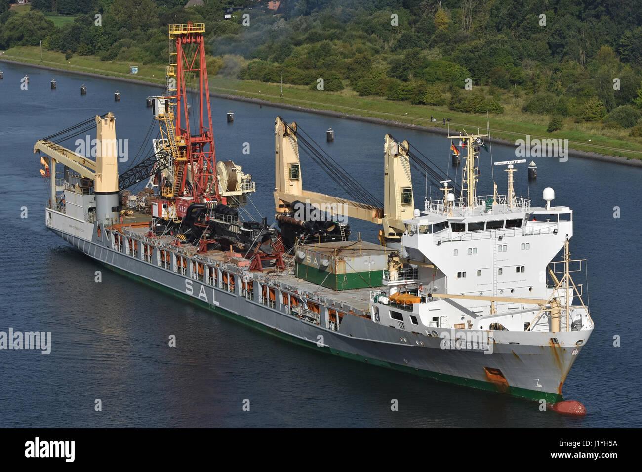 General Cargo Vesel Annegret Stock Photo