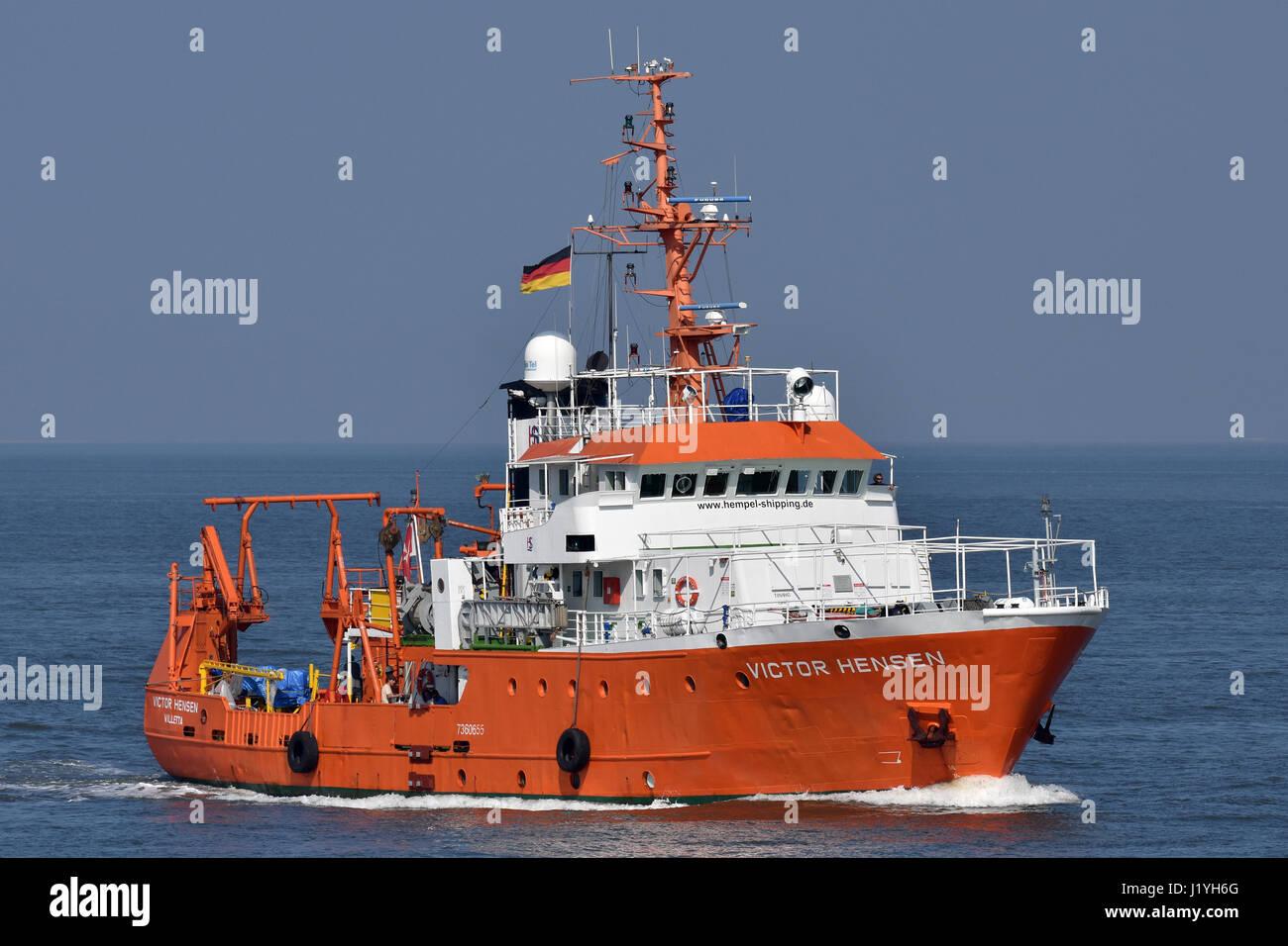 Research Vessel Victor Hensen Stock Photo