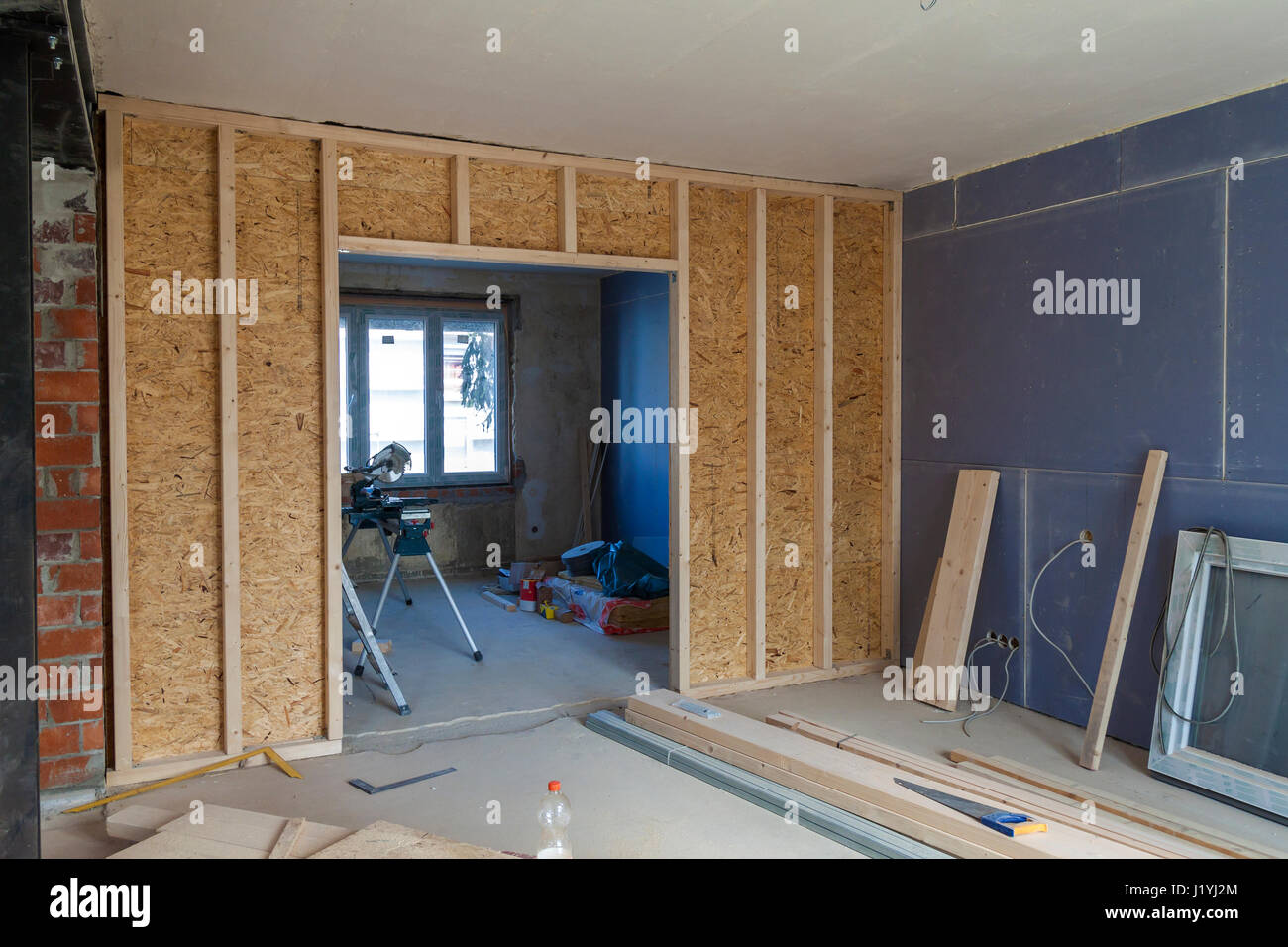 Interior of a house under construction renovation of an apartment stock photo royalty free - Renovating an apartment ...
