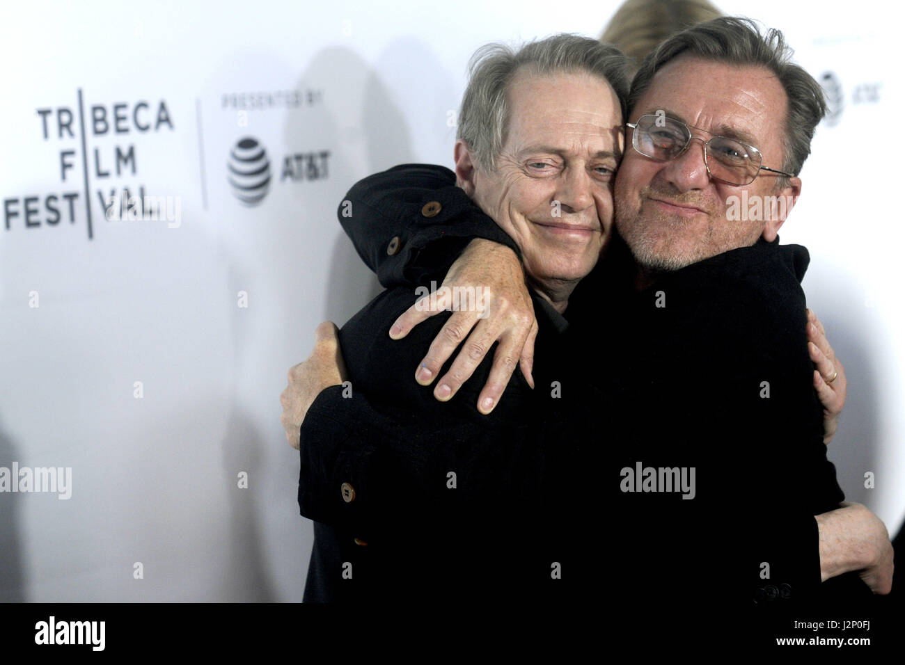 New York City. 28th Apr, 2017. Steve Buscemi and Tim Roth attend the 'Reservoir Dogs' 25th Anniversary Screening Stock Foto