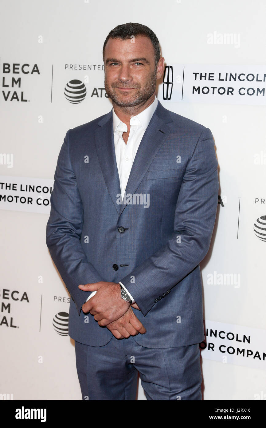 New York, USA. 28th April 2017: Actor Liev Schreiber attends the 'Chuck' screening at BMCC during the 2017 TriBeCa Stock Foto