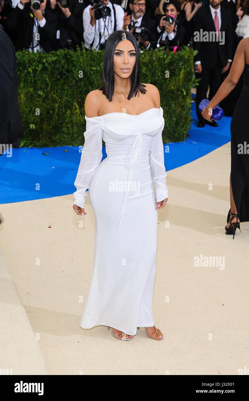 New York, NY, USA. 1st May, 2017. 01 May 2017 - New York, New York - Kim Kardashian West. 2017 Metropolitan Museum Stock Foto