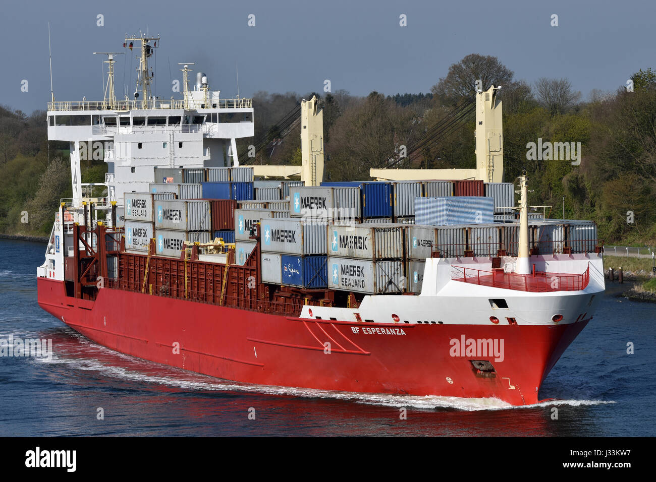 Feedervessel BF Esperanza Stock Photo