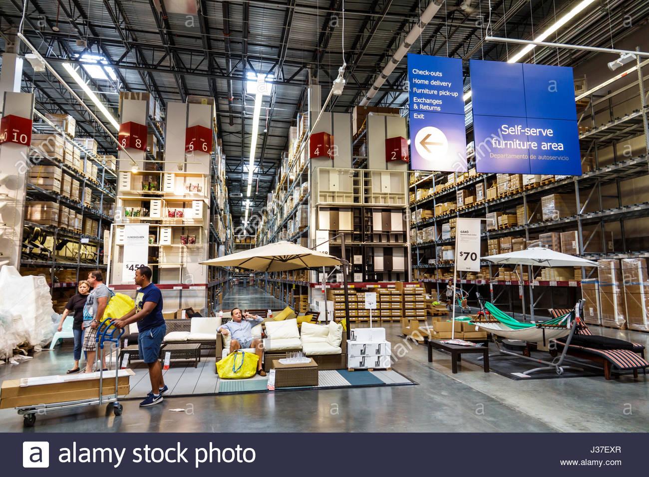 Miami Florida Ikea Store Retailer Furniture Home Accessories Shopping Stock Photo Royalty Free