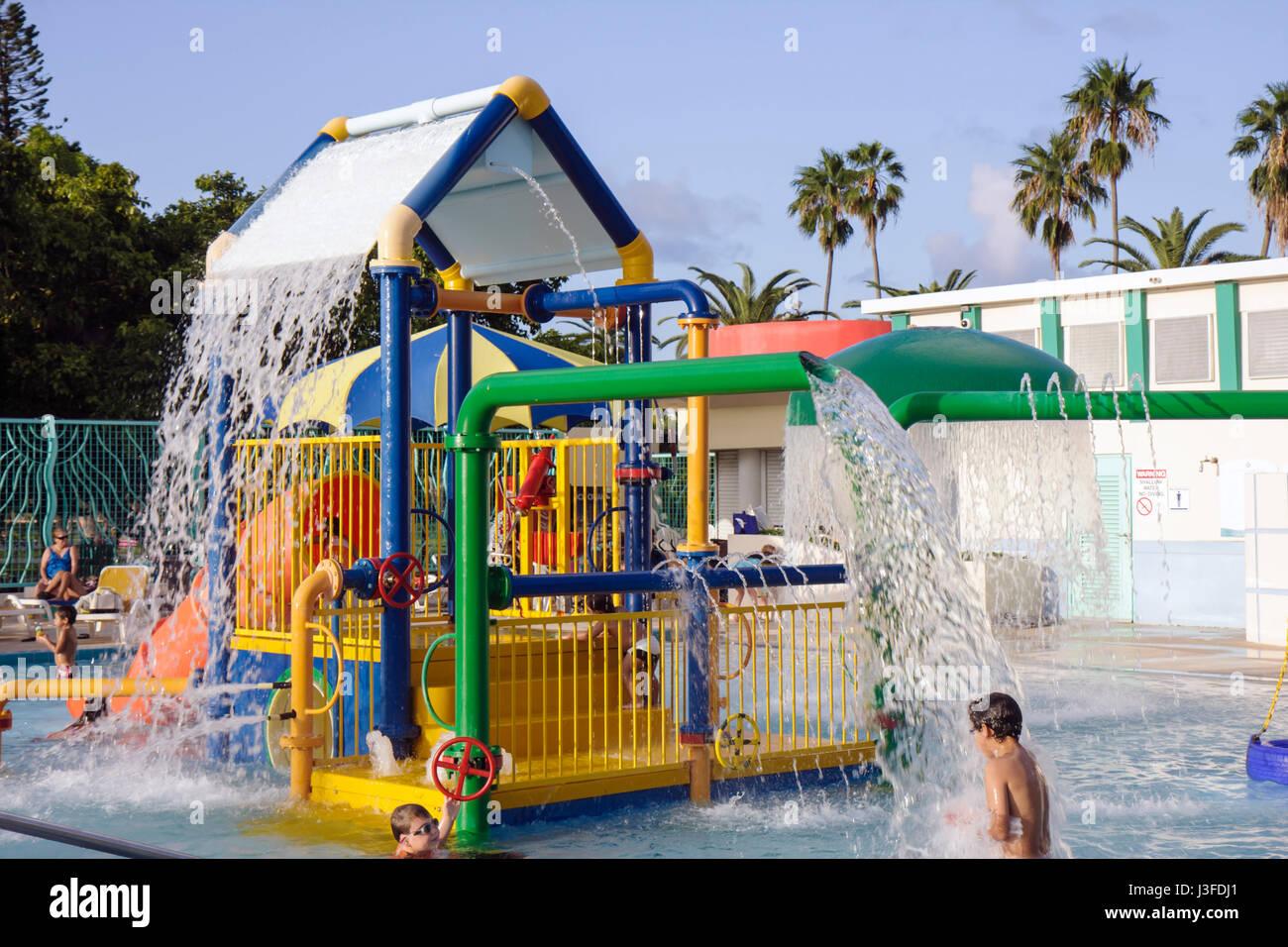 Miami Beach Florida Flamingo Park Swimming Pool Public Boy Boys Child Stock Photo Royalty Free