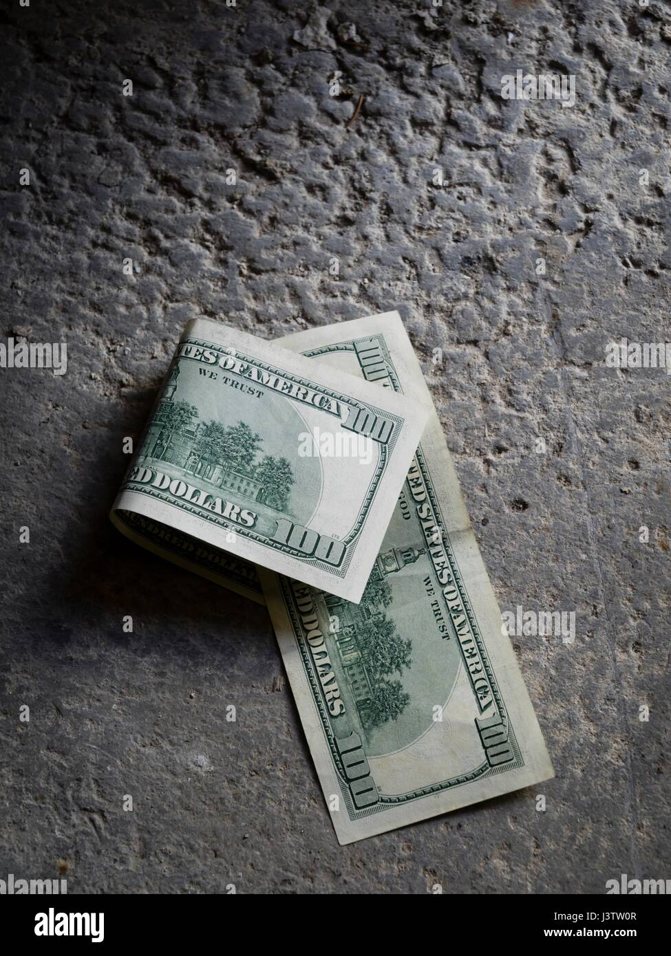 Finding Found Lost Money Dollars Lying On Concrete Floor