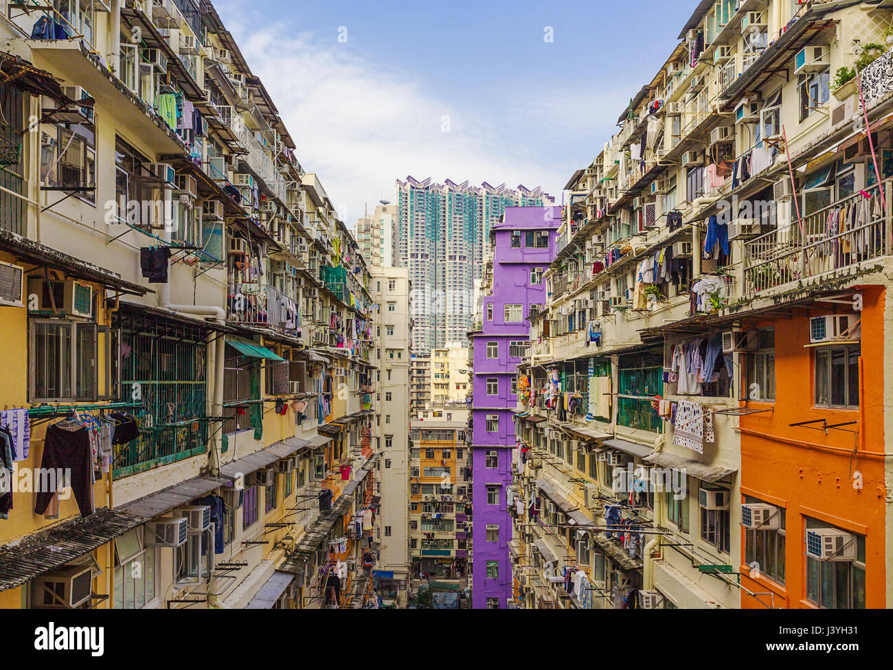 Old houses surrounded modern skyscrapers in hong kong for Modern house hk