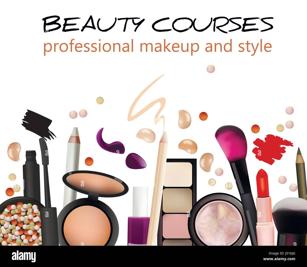 beauty courses poster design  cosmetic products