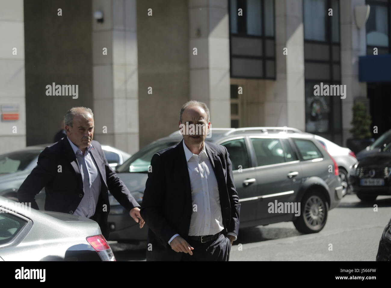 Arrival of the leaders of the party The Republicans at their headquarters  -  16/05/2017  -  France / Paris  - - Stock Image