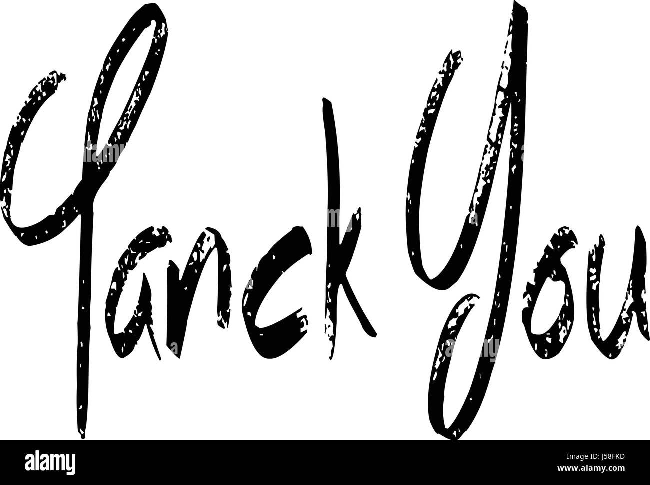 Tank you text sign illustration on White background - Stock Image