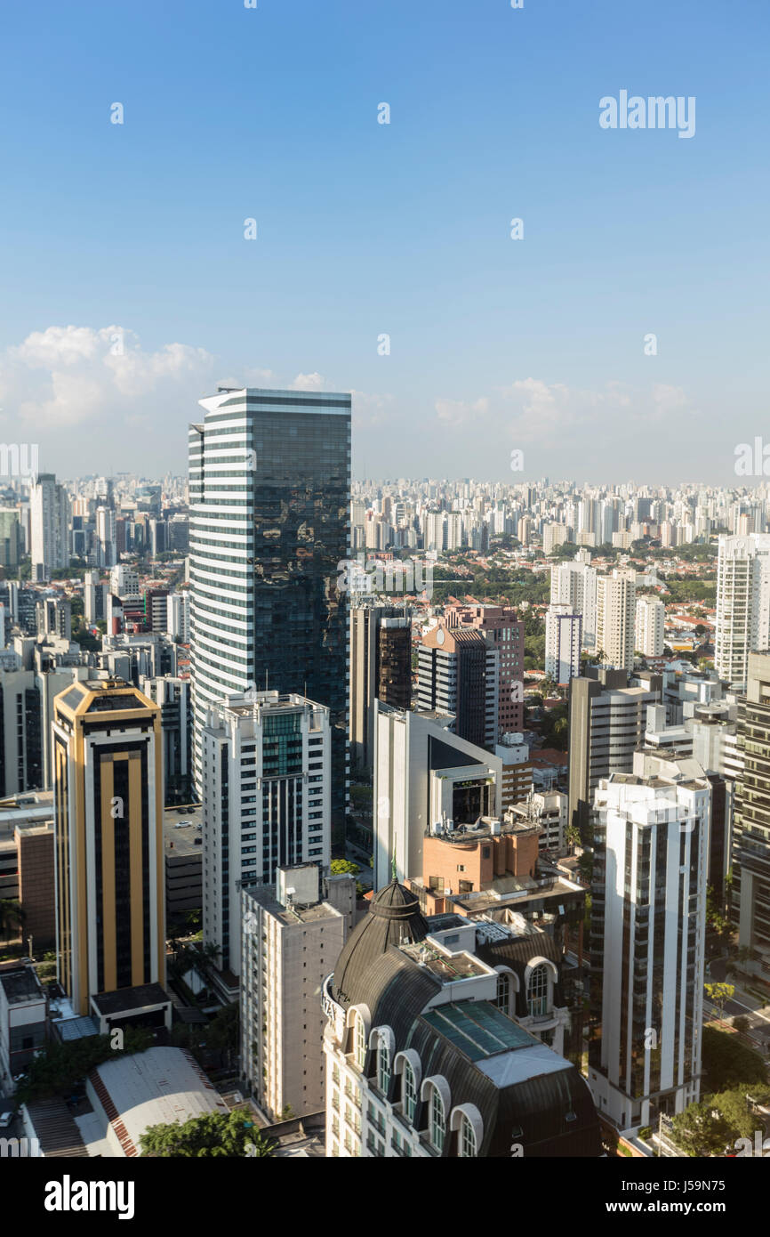Sao Paulo new city centre around Faria Lima Avenue and Vila Olimpia - Stock Image