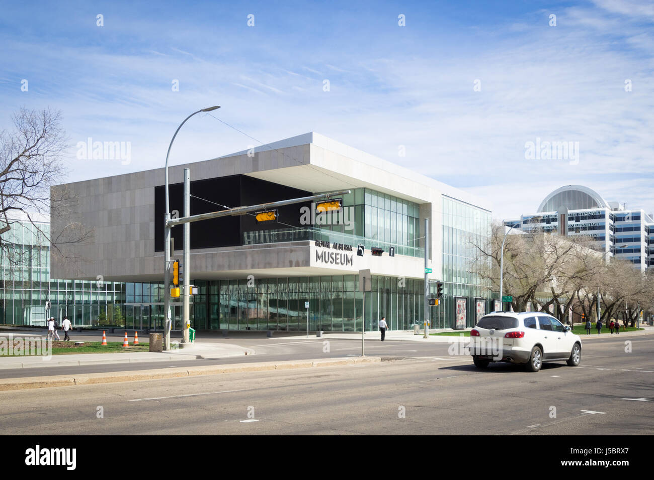 A view of the exterior of the new Royal Alberta Museum in Edmonton, Alberta, Canada. - Stock Image