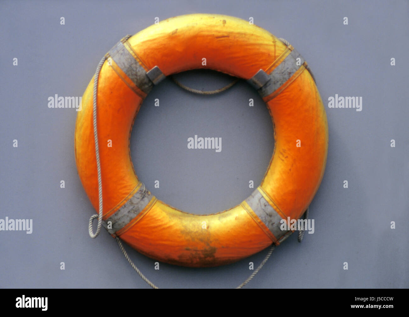 seafaring maritime rescue distress at sea lifebelt assistance help support aid - Stock Image