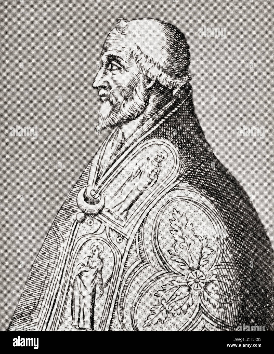 Pope Leo IX, 1002 – 1054, born Bruno of Egisheim-Dagsburg.  Pope, Alsacian aristocrat and a powerful ruler of central - Stock Image