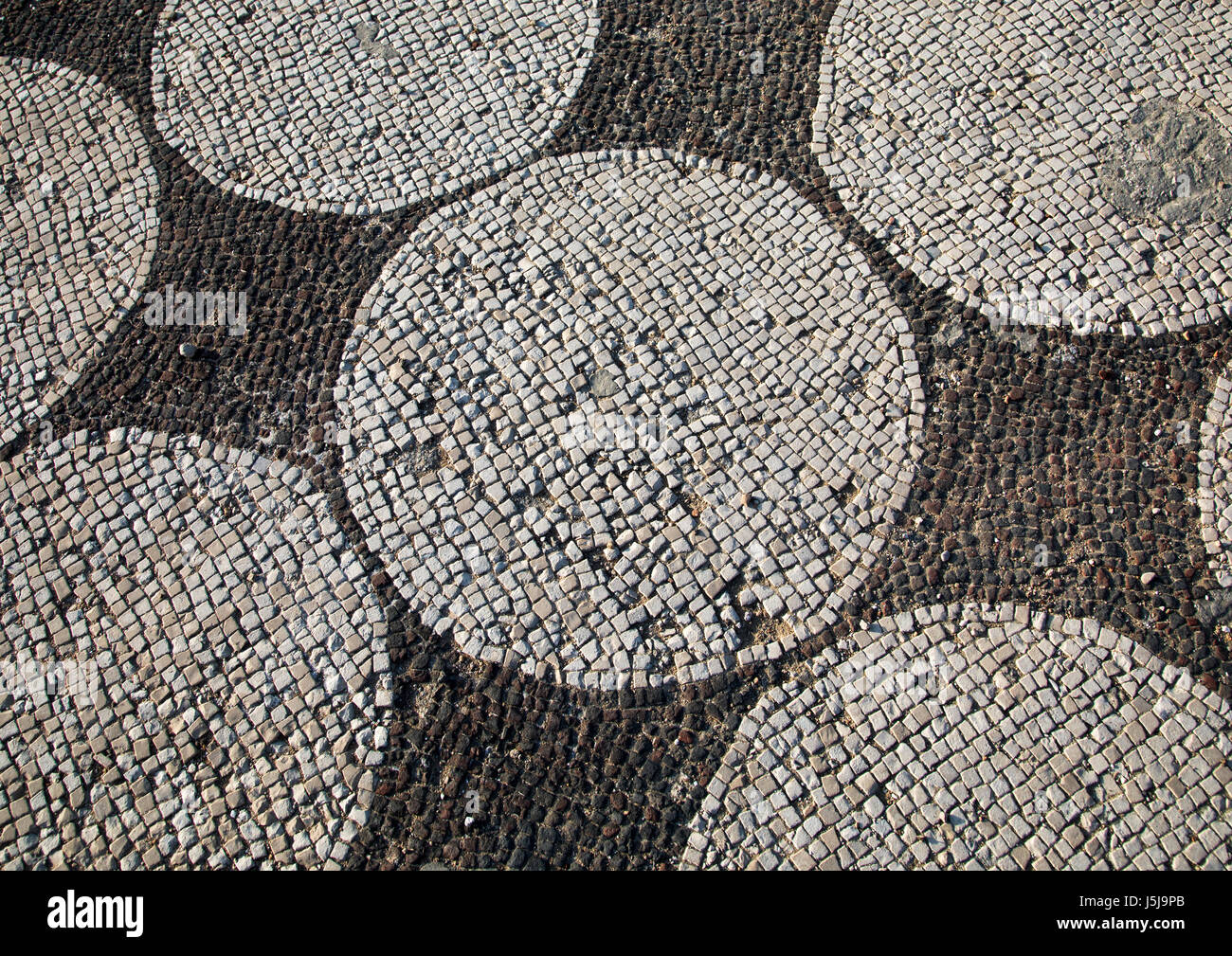 Mosaics in al-mina archaeological site, South Governorate, Tyre, Lebanon - Stock-Bilder