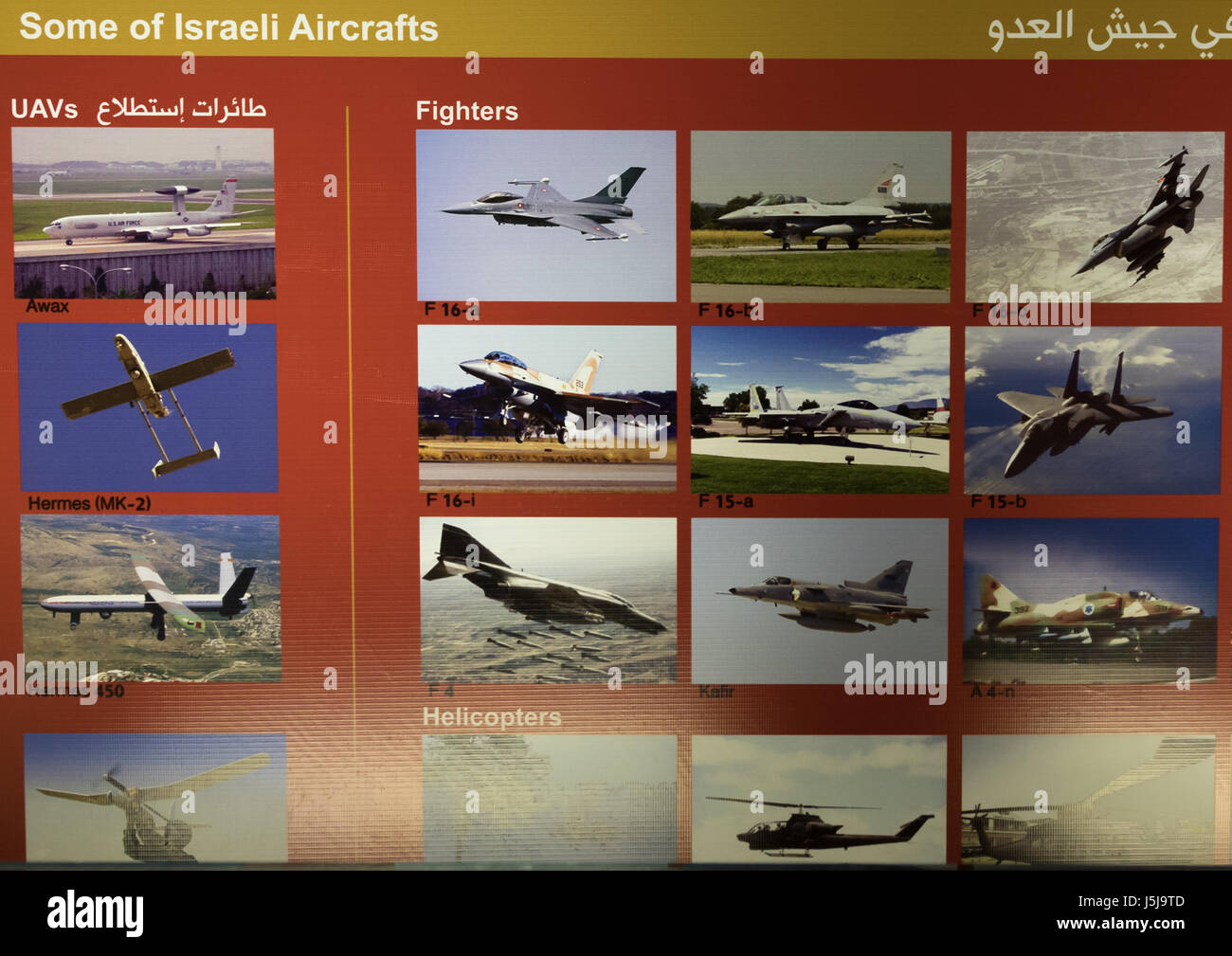 Israeli jets in the war museum operated by Hezbollah called the tourist landmark of the resistance or museum for - Stock-Bilder