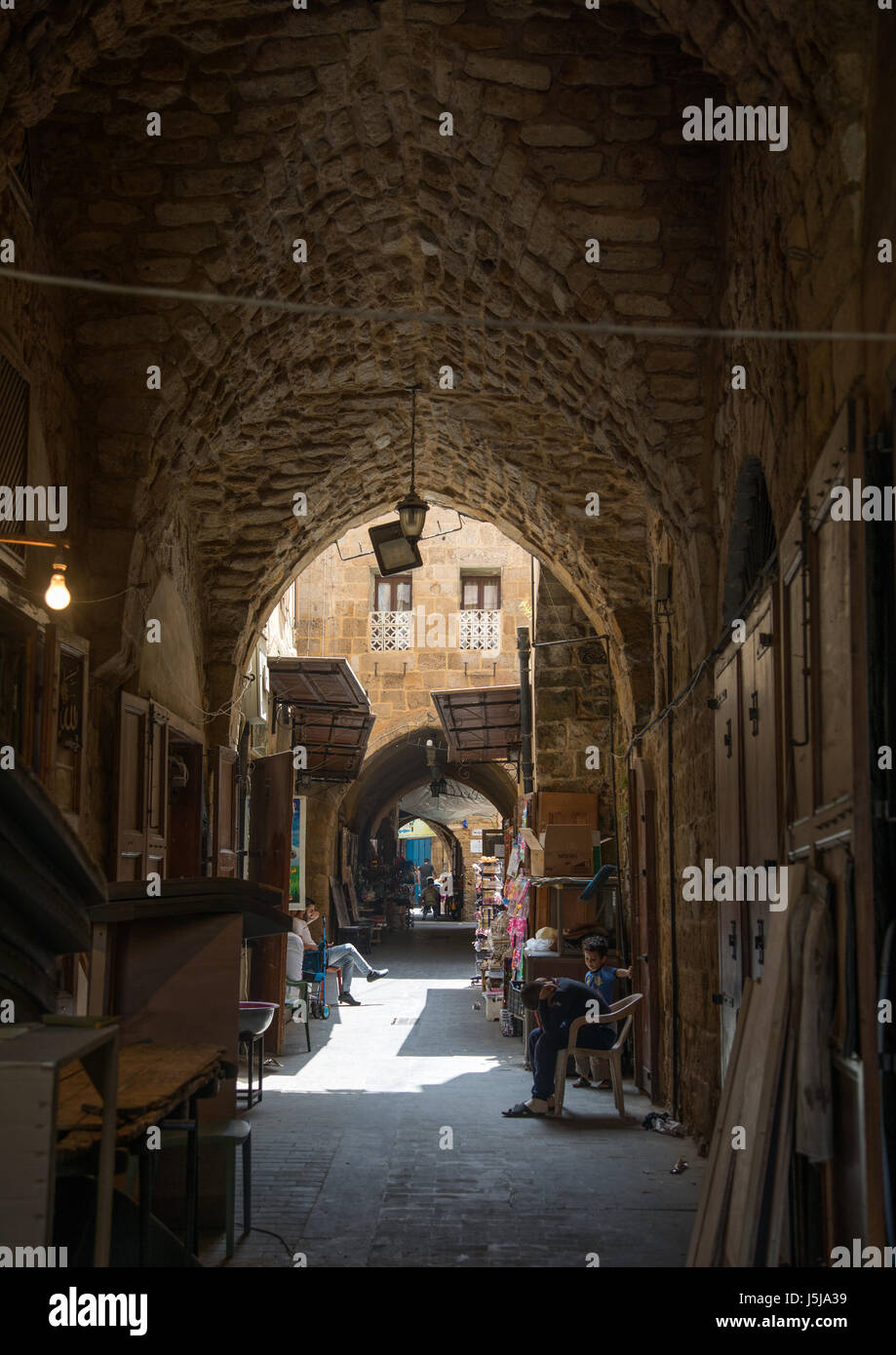 Old covered souk, South Governorate, Sidon, Lebanon - Stock-Bilder