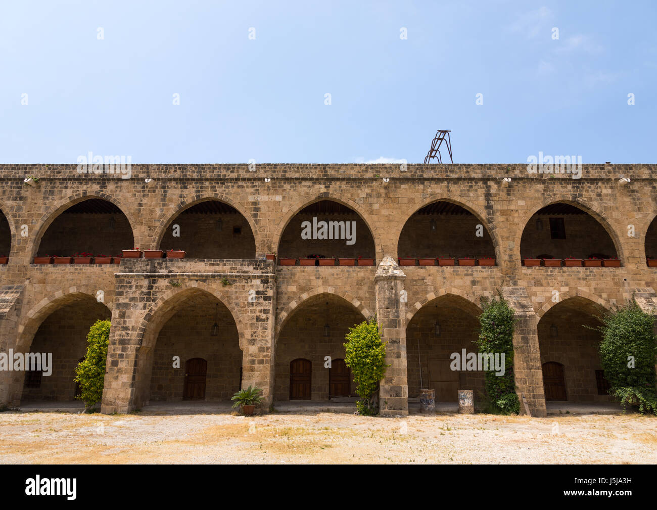 Khan el-franj caravanserai, South Governorate, Sidon, Lebanon - Stock-Bilder