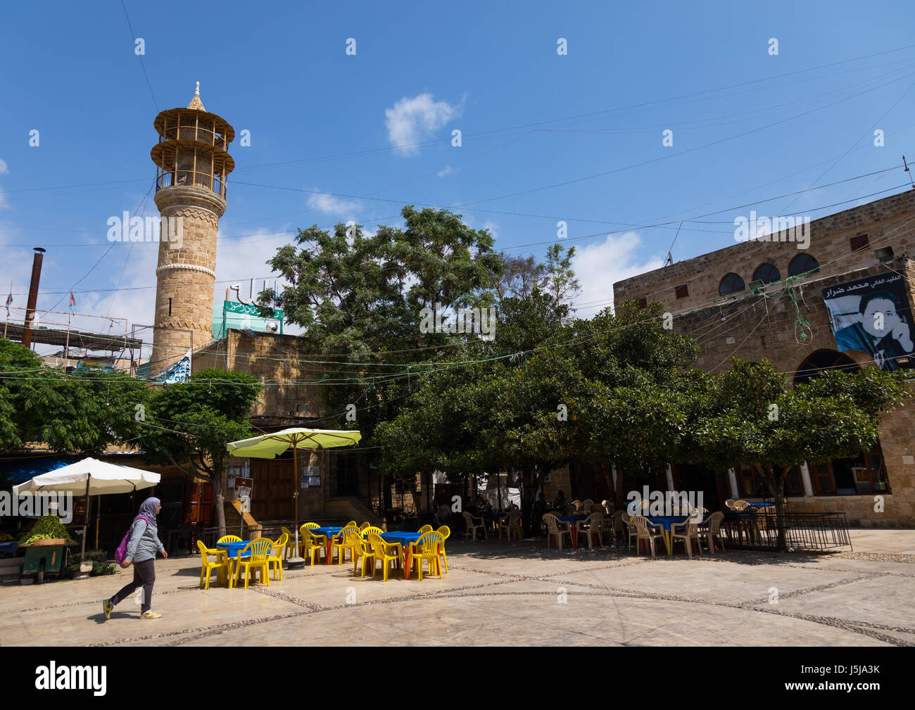 Mosque on the main square, South Governorate, Sidon, Lebanon - Stock-Bilder