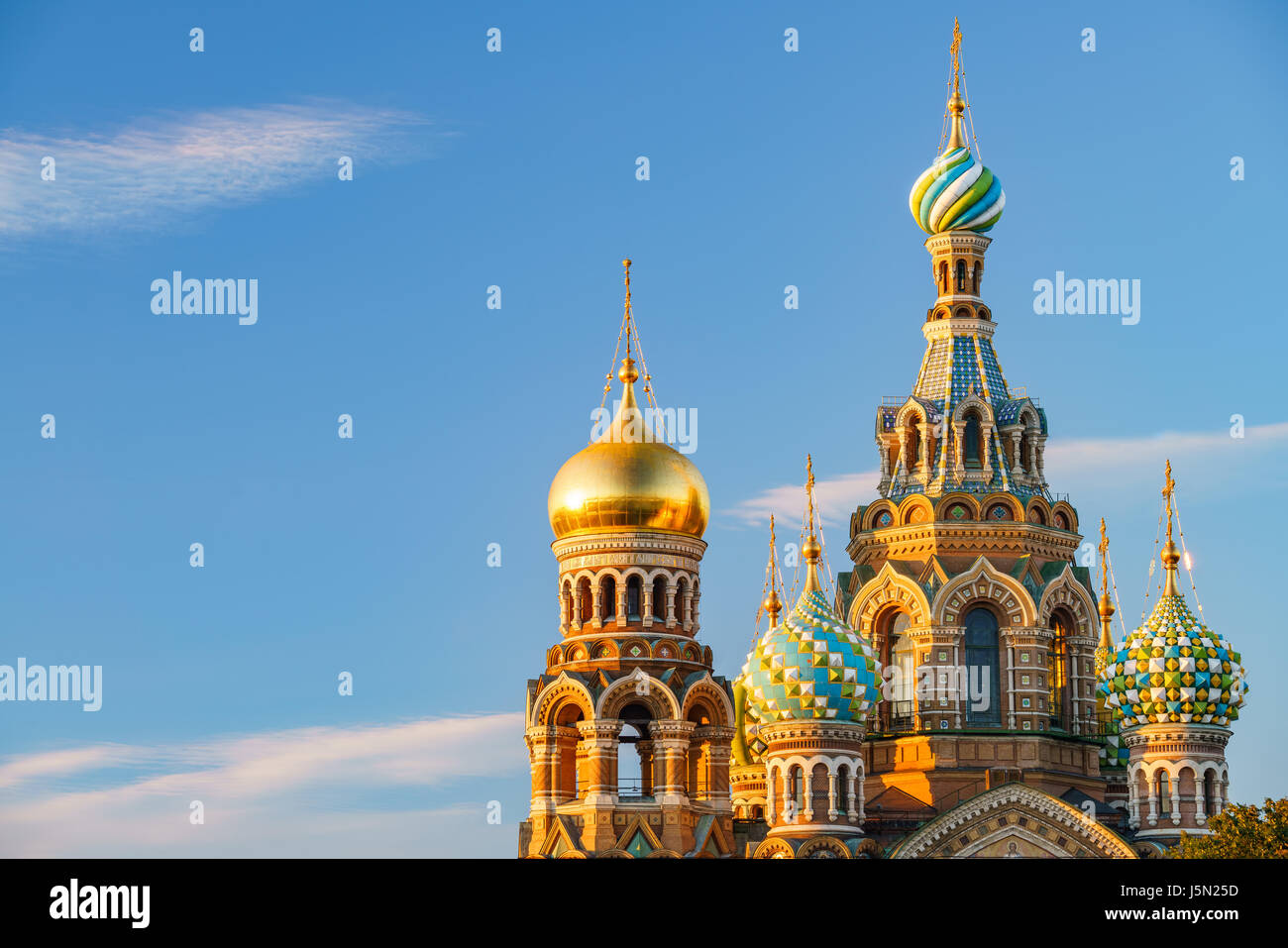 Church of the Savior on Spilled Blood in St. Petersburg, Russia - Stock Image