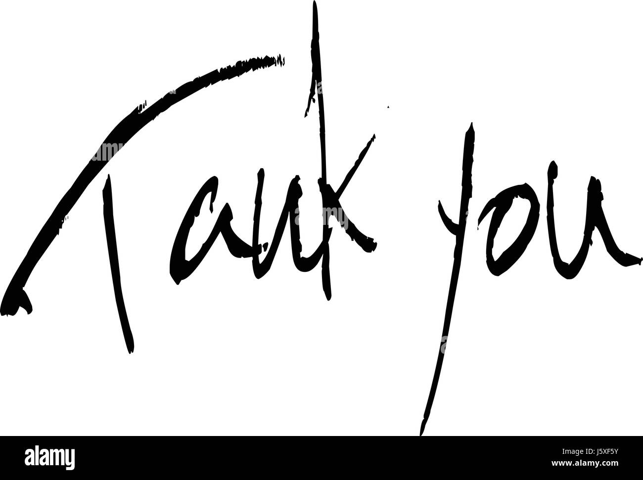 Tank you text sign illustration on White background, - Stock Image