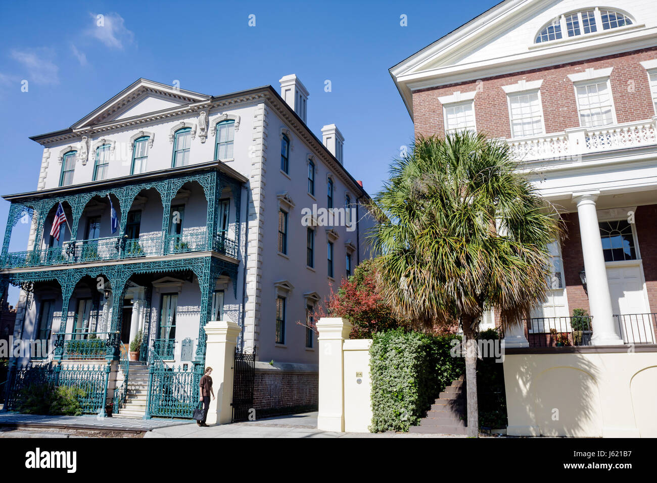 Charleston South Carolina Southern National Historic Landmark Historic District Broad Street John Rutledge House - Stock Image