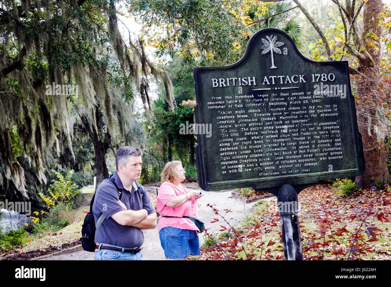 Charleston South Carolina Lowcountry Ashley River Road Magnolia Plantation and Gardens 1676 National Register of - Stock Image