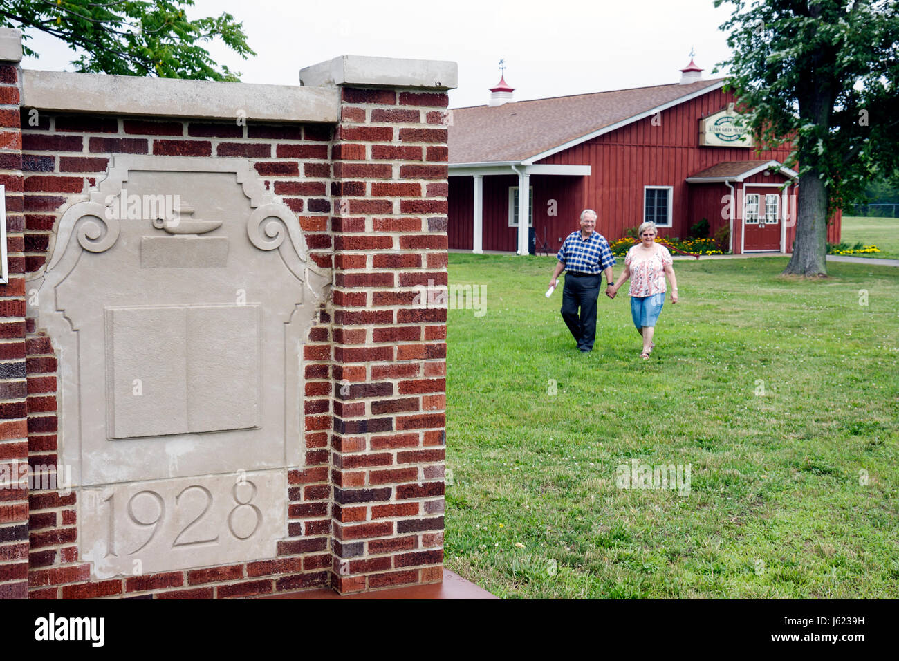 Indiana Portage Countryside Park Alton Goin Historical Museum regional history heritage man woman couple senior - Stock Image