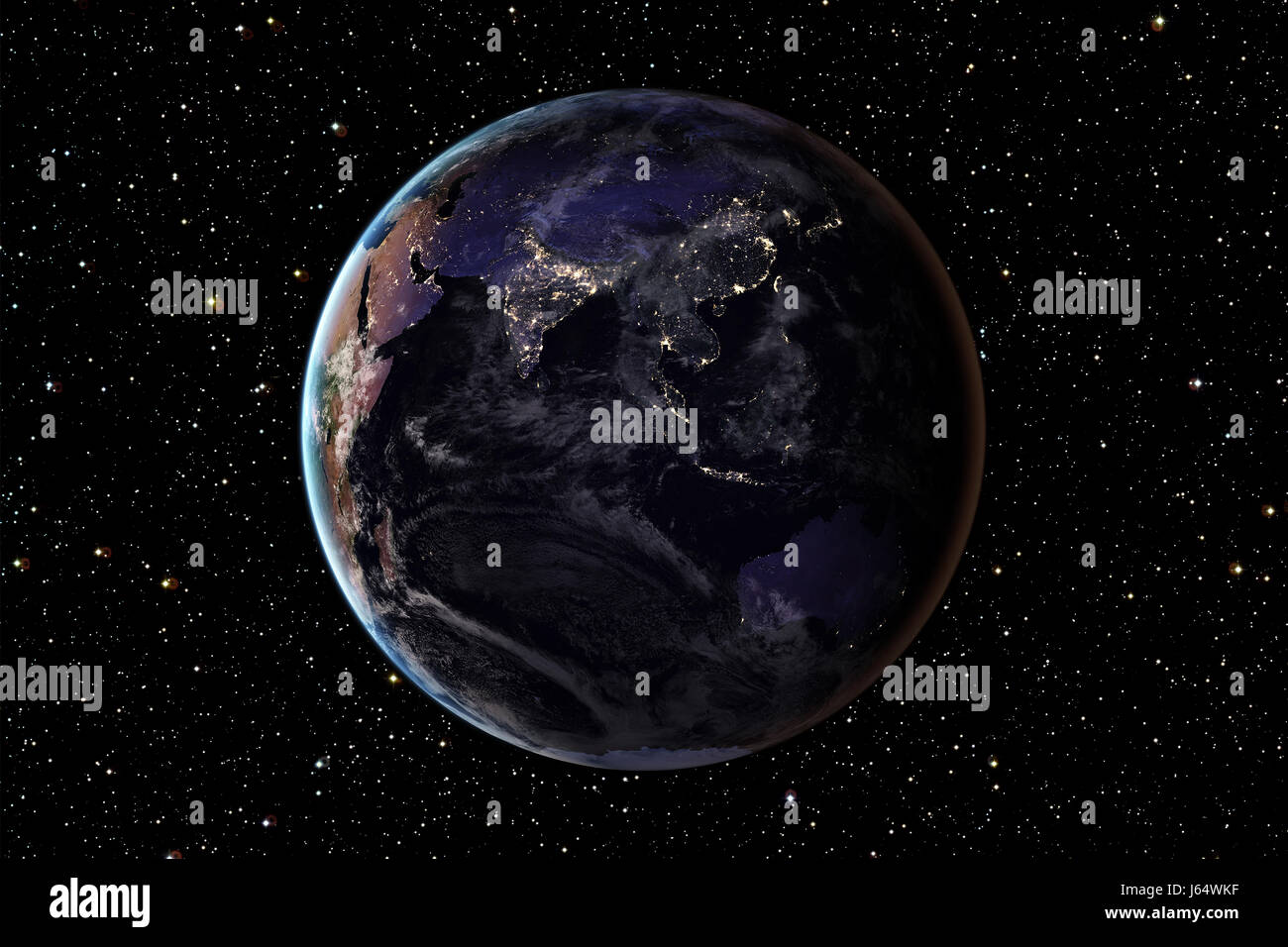 planet earth from space at night - photo #31