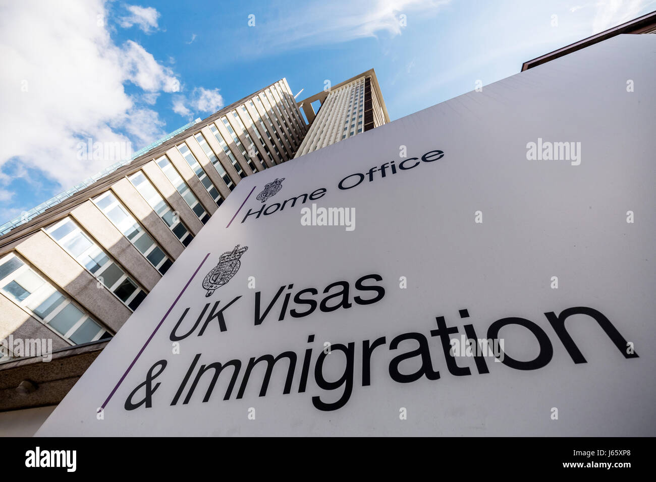 The Home Office UK Visas & Immigration Office at Lunar House in Croydon, London, UK. Stock Photo