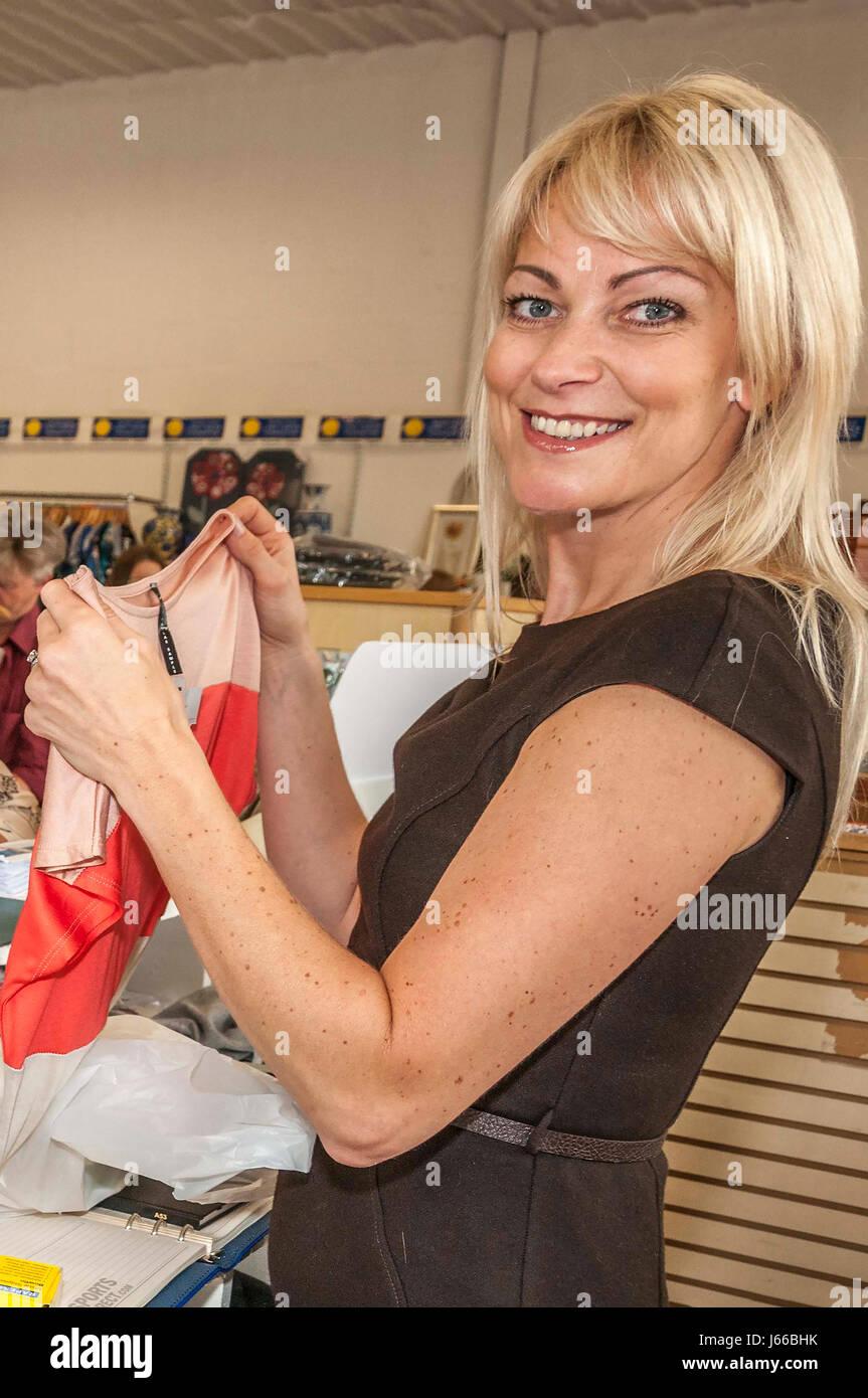 Actress Terri Dwyer. - Stock-Bilder