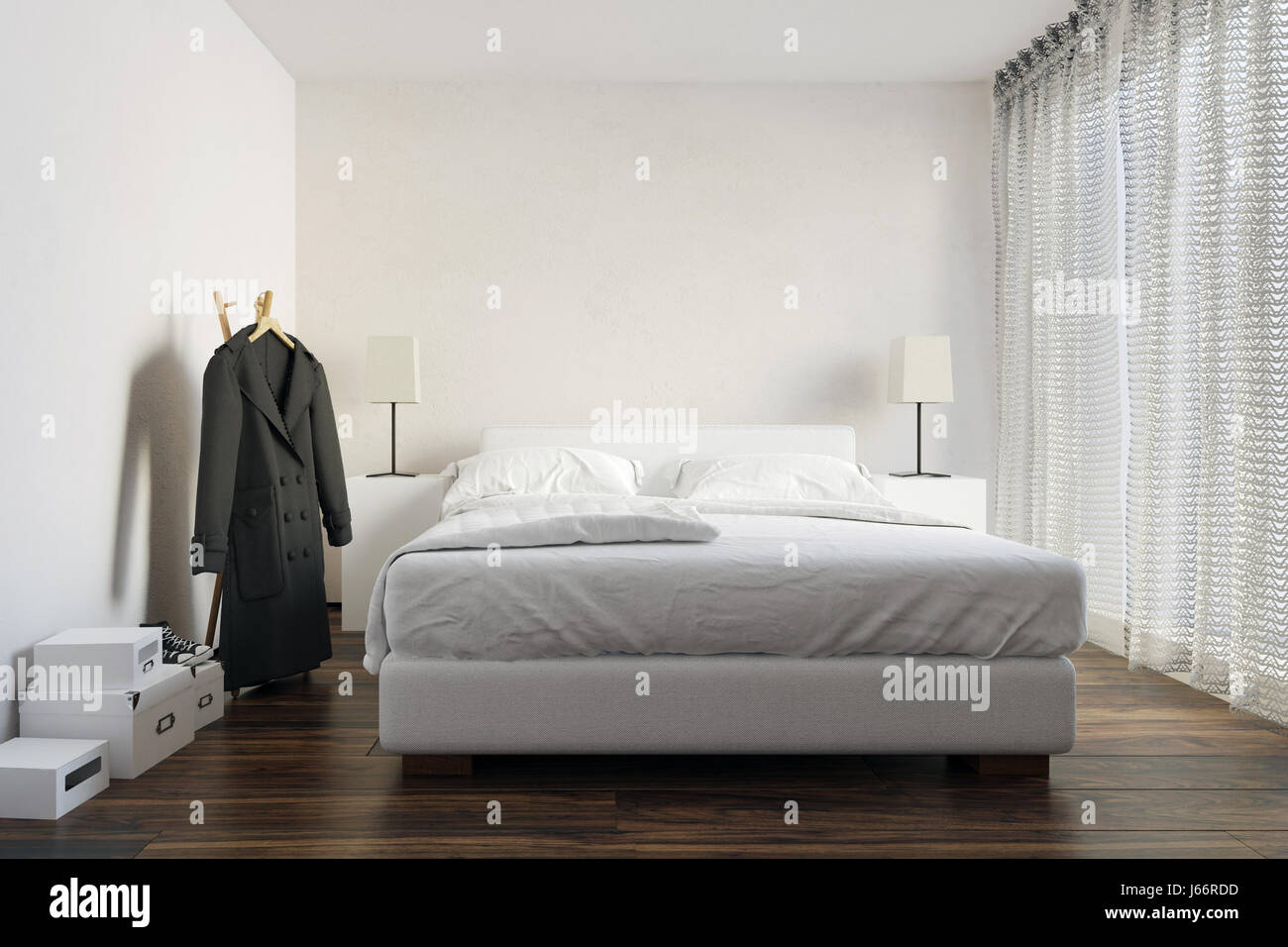 Cabinets clothes stock photos cabinets clothes stock for White double divan bed