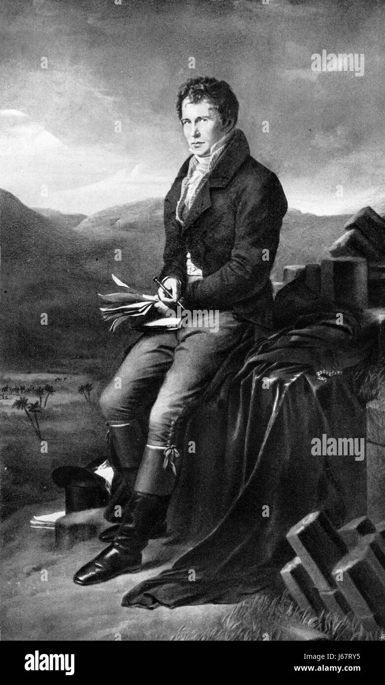 ALEXANDER von HUMBOLDT (1769-1859) Prussian naturalist, explorer and scientist in an 1812 painting by Charles de - Stock-Bilder