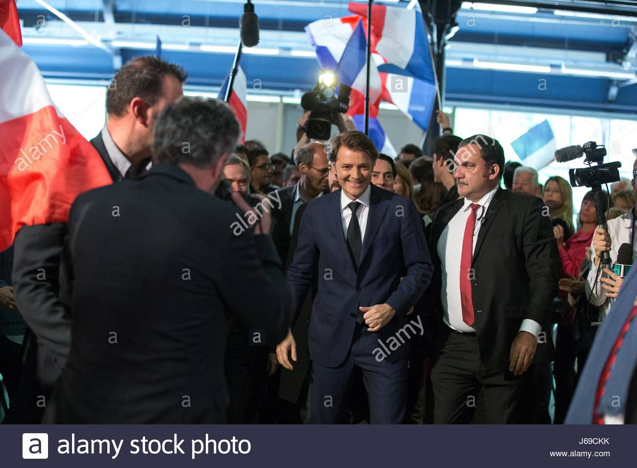 Paris, France. 20th May, 2017. French right-wing Les Republicains (LR) party senator and head of the campaign committee - Stock Image