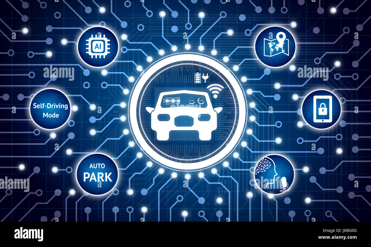 smart car and internet of things  iot  concept  electric circuit stock photo  royalty free image