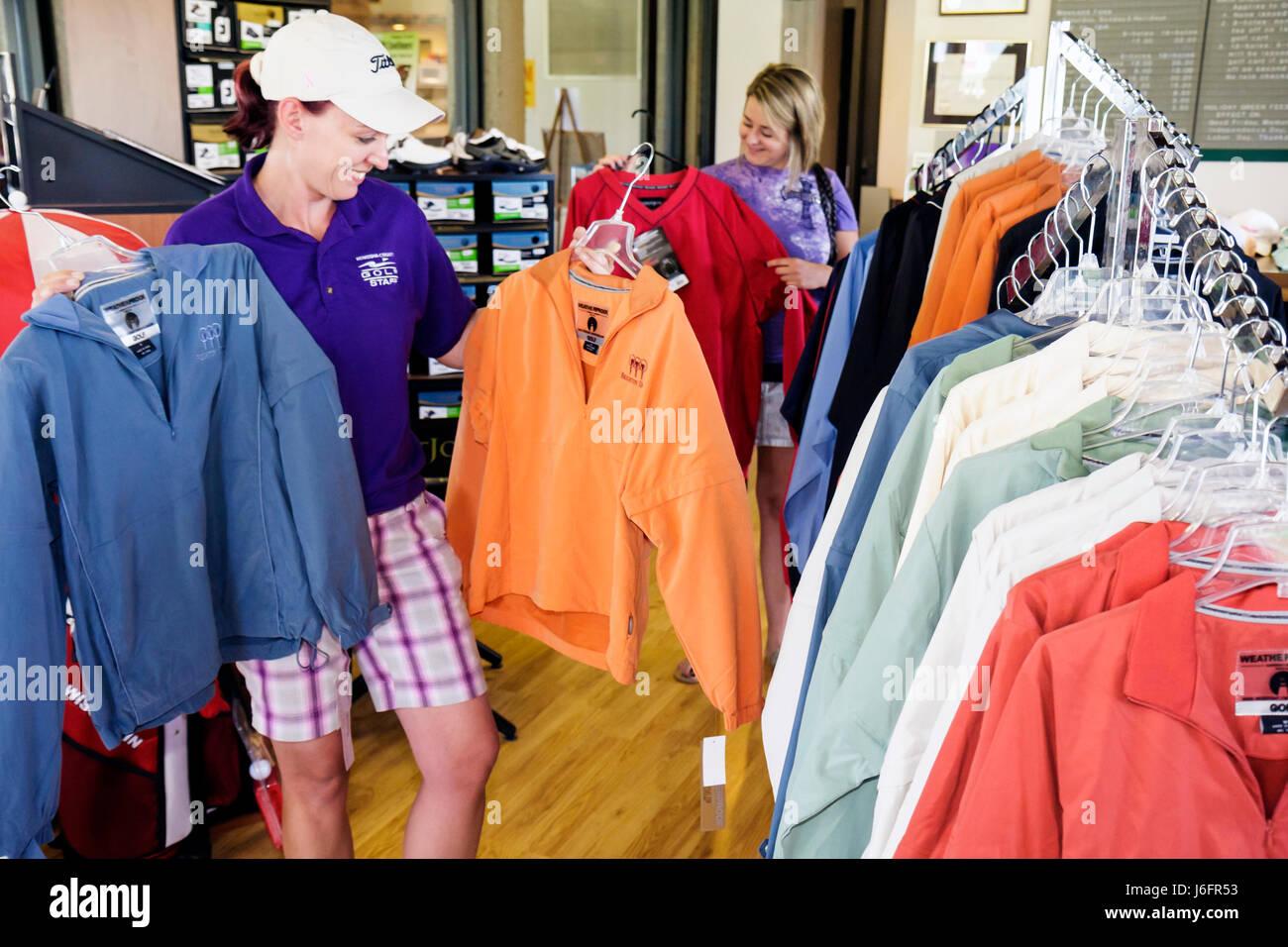 Wisconsin Kenosha Kansasville Brighton Dale Links golf course county park system Pro Shop sporting goods clothing - Stock Image