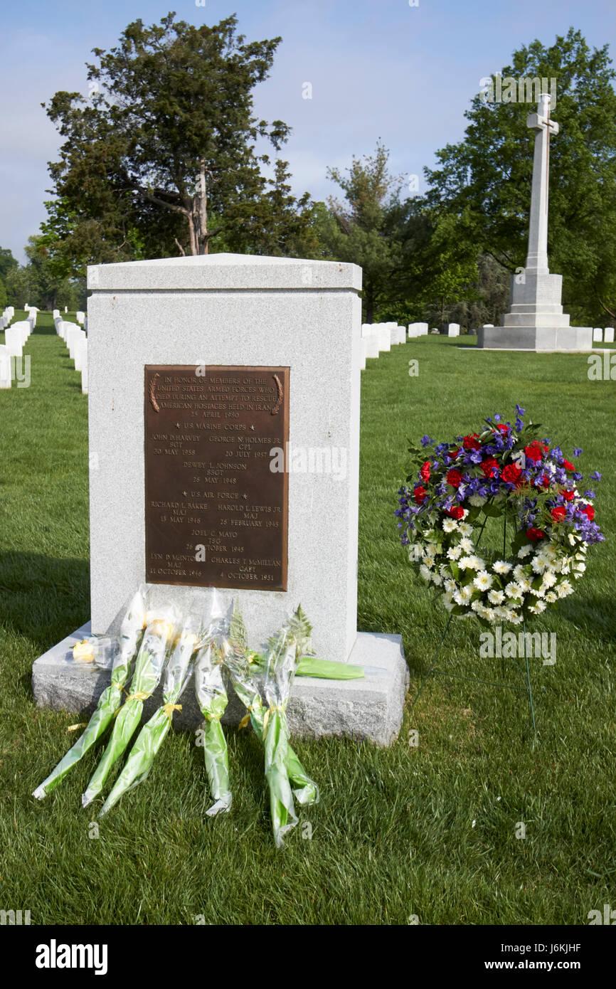 iran rescue mession operation desert memorial at arlington cemetery Washington DC USA - Stock Image